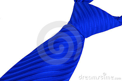 Closeup of tie knot
