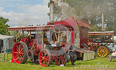 Closeup of Traction Engine at Pickering Editorial Stock Image