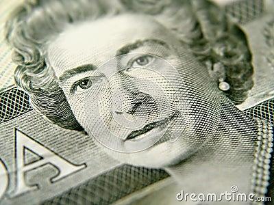 Closeup of Twenty Dollar Bill