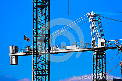 Closeup of two Cranes
