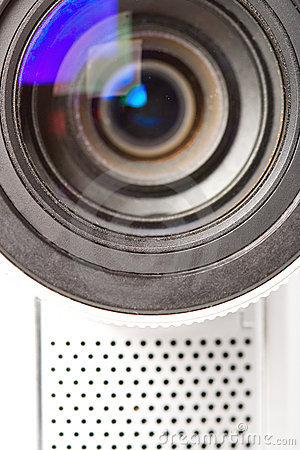 Closeup video camera lens