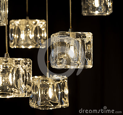 Free Closeup View Of Contemporary Light Fixture Royalty Free Stock Image - 41679566