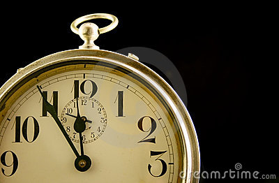 Closeup of Vintage Alarm Clock