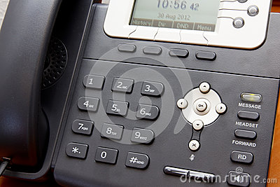 Closeup VoIP Telephone