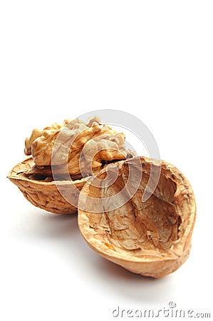 Closeup of a walnut