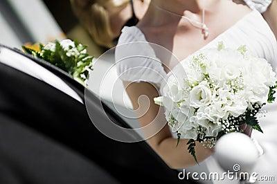 Closeup of wedding pair