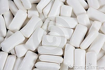 Closeup of white gums