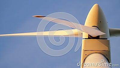 Closeup of a wind turbine