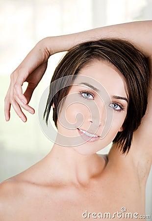 Closeup woman