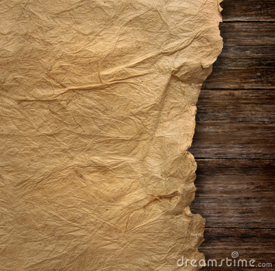 Closeup of  wrinkled parchment paper