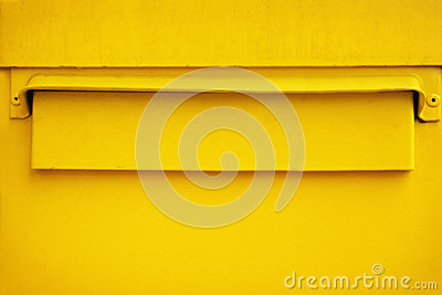 Yellow postbox