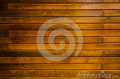 Closeup yellow timber wall background
