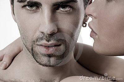 Closeup  young couple