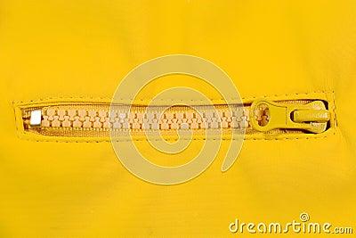 Closeup of a zipper
