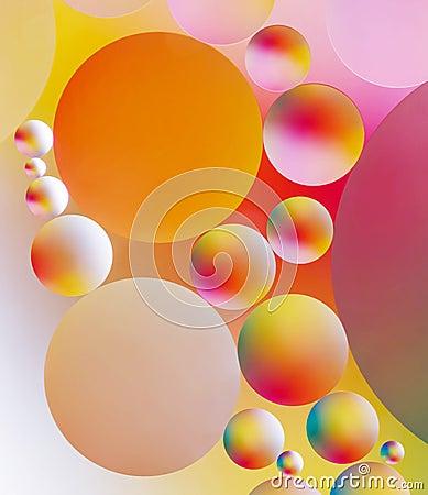 Den färgrika abstrakt begrepp bubblar