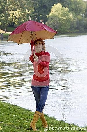 Free Closing Umbrella Stock Images - 6600474