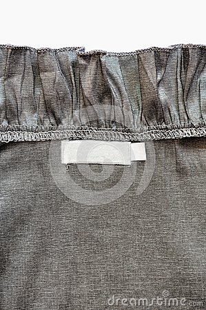 Cloth back label