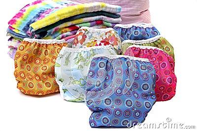 Cloth diaper stack