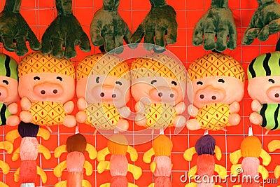 Cloth dolls Editorial Photo