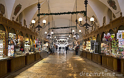 Cloth Hall Market - Krakow - Poland Editorial Image