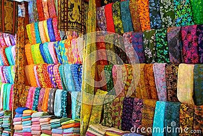 Cloth shop in Bali