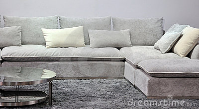 Cloth sofa in living room
