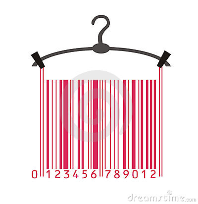 Clothes in barcode