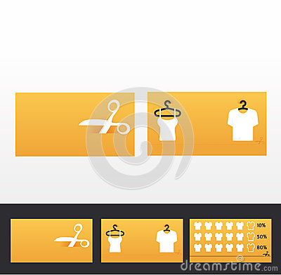 Clothes business cards, discount and promotional cards/