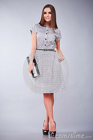 Free Clothes Casual And Office Business Woman Style Dress Royalty Free Stock Photo - 73650805