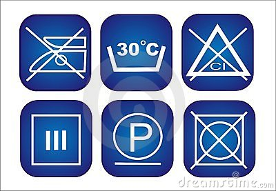 Clothes conservation icons set