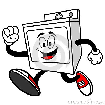 Clothes Dryer Running Stock Vector - Image: 71050029
