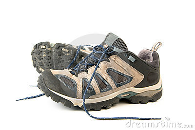 Clothes hiking boots or shoes