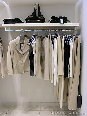Free Clothes In Shop Royalty Free Stock Photo - 1579555