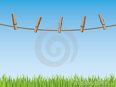 Clothes line background royalty free stock photography image