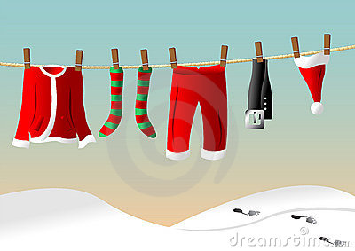 Clothes line for Santa suit