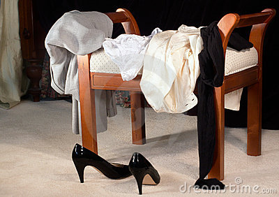 Clothes scattered on the morning after