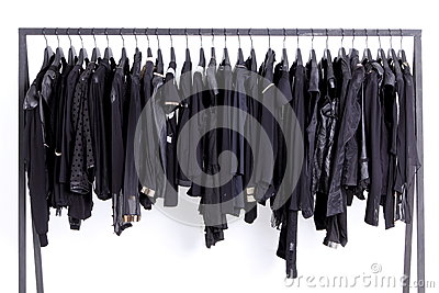 Clothes on shelf
