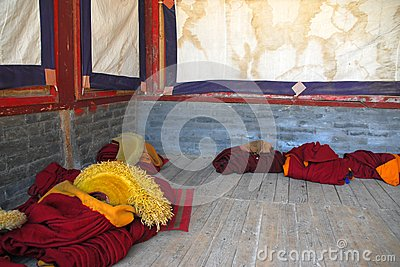 The clothes of tibet monk