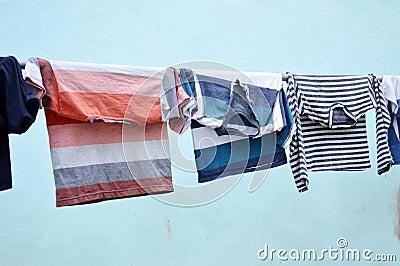 Clothesline clothes
