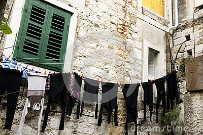 Clothesline in Split