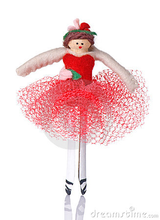 Clothespin Ballerina Christmas Ornament
