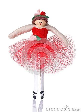 Clothespin Ballerina Christmas Ornament