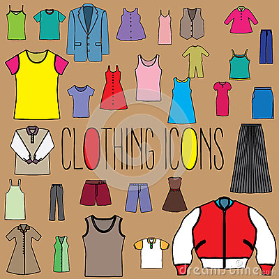 Free Clothing Color Icons Stock Image - 57932741