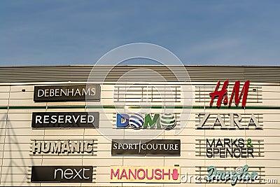 Clothing Companies Editorial Stock Photo