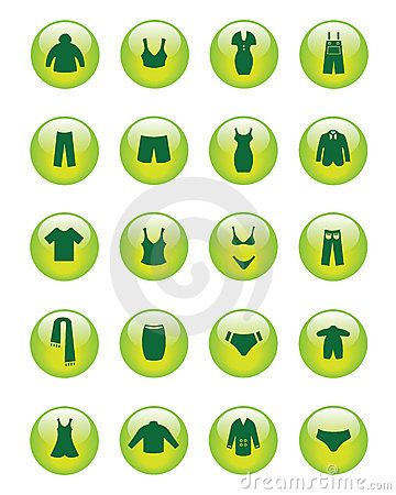 Clothing icons (Vector)