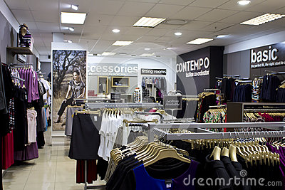 Clothing shop interior Editorial Photography