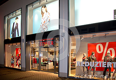 Clothing store Editorial Stock Photo