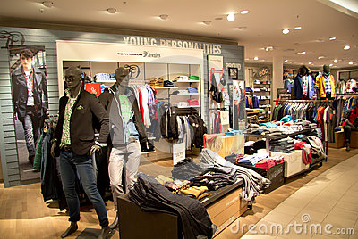Clothing store Editorial Stock Image