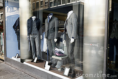 Clothing store display Editorial Image