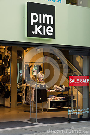 Clothing store Pimkie on Kurfuerstendamm Editorial Stock Photo
